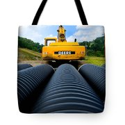 Construction Excavator Tote Bag
