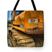 Construction Excavator In Hdr 1 Tote Bag