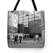 Construction In Black And White Tote Bag