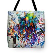Construction Of Self 1 Tote Bag by David Baruch Wolk