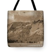 Construction Of The Flatirons - 1931 - Sepia Tote Bag