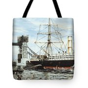 Construction Of Tower Bridge Tote Bag