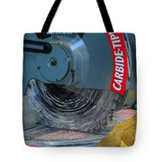 Construction The Chop Saw Tote Bag by Paul Ward