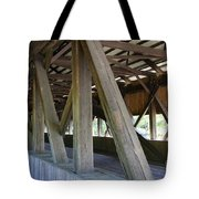 Construction Under The Roof - Jackson Covered Bridge Nh Tote Bag