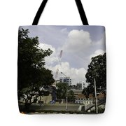 Construction Work Ongoing In Singapore Tote Bag