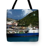 Container Ship St Maarten Tote Bag