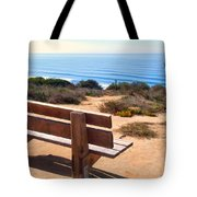 Contemplation Bench At The Oceans Edge Tote Bag