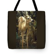 Mule Deer - Contemplation Tote Bag by Crista Forest
