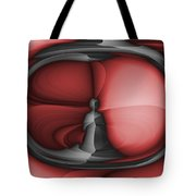 Contemplation Red Tote Bag