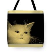 Contemplative Cat   No 5 Tote Bag
