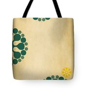 Contemporary Dandelions 1 Part 3 Of 3 Tote Bag