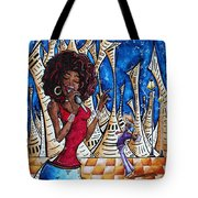 Contemporary New Orleans Jazz Blues Original Painting Singin In The Streets Tote Bag