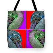Contemporary Pelicans Tote Bag