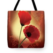 Contemporary Wild Poppies Tote Bag