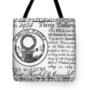 Continental Banknote, 1775 Tote Bag