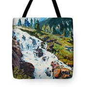Continental Falls Tote Bag