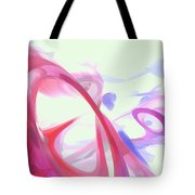 Contortion Pastel Abstract  Tote Bag