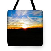 Contrail Sunset Tote Bag
