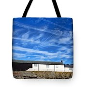 Contrails Over The Cobb Tote Bag