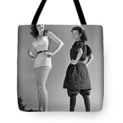 Contrast In Bathing Suit Style Tote Bag