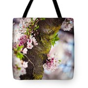 Contrast. Pink Spring In Amsterdam Tote Bag