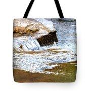 Converging Stream Water Tote Bag