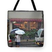 Conversation In The Rain Tote Bag