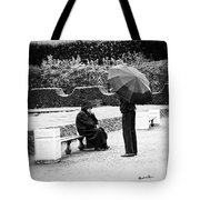 Conversation In The Rain Tote Bag