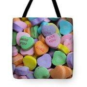 Conversational Hearts Tote Bag