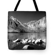Convict Lake Pano In Black And White Tote Bag