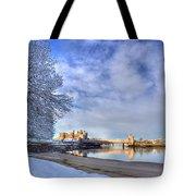 Conwy Castle Snow Tote Bag