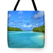 Cook Islands Lagoon Tote Bag