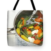 Cooked Mixed Vegetables Tote Bag