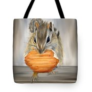 Cookie Time- Squirrel Eating A Cookie Tote Bag