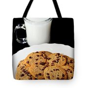 Cookies - Milk - Chocolate Chip - Baker Tote Bag by Andee Design