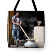 Cooking Breakfast Early Morning Lahore Pakistan Tote Bag