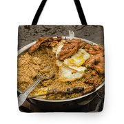 Cooking On A Boat In Shanty Town Tote Bag