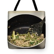 Cooking Salmon With Green Beans Tote Bag