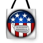 Cool Army Insignia Tote Bag by Pamela Johnson