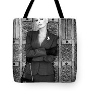 Cool Blonde Bw Palm Springs Tote Bag