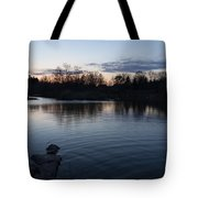 Cool Blue Ripples - Lake Shore Eventide Tote Bag