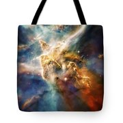Cool Carina Nebula Pillar 4 Tote Bag by Jennifer Rondinelli Reilly - Fine Art Photography