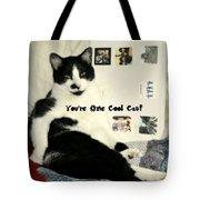Cool Cat Greeting Card Tote Bag