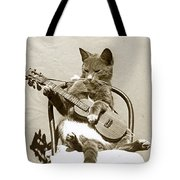 Cool Cat Playing A Guitar Circa 1900 Historical Photo By Photo  Henry King Nourse Tote Bag