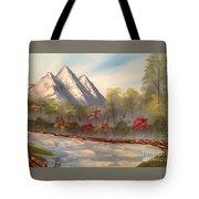 Cool Mountain River Tote Bag