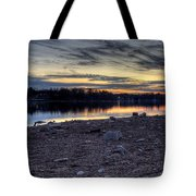 Cool Winter Sunset Tote Bag