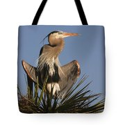 Great Blue Heron Air Conditioning Tote Bag