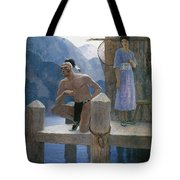 Cooper: Deerslayer, 1925 Tote Bag