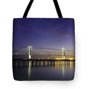 Cooper River Bridge Lights Glowing Tote Bag