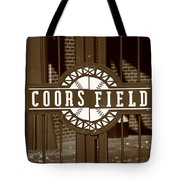 Coors Field - Colorado Rockies 15 Tote Bag by Frank Romeo